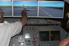 Roulage derriere d'autres avions