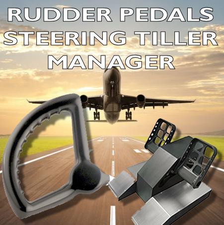 Rudder pedals / Steering tiller manager V3